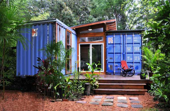 home made of two shipping containers