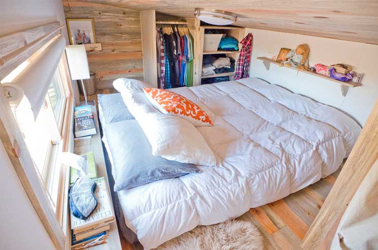 the kitchen is a bit small for our taste but the bedroom is one of the - Largest Tiny House On Wheels