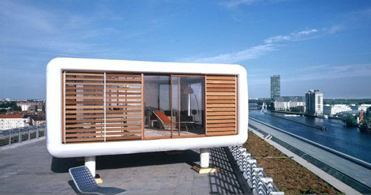 Loftcube prefab mini house for rooftops