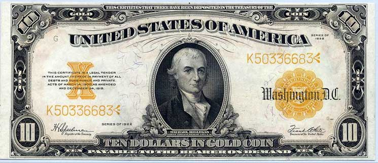 The Gold Standard guaranteed the value of paper fiat money