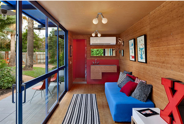 Great Shipping Container Guest House By Poteet Architects Interior
