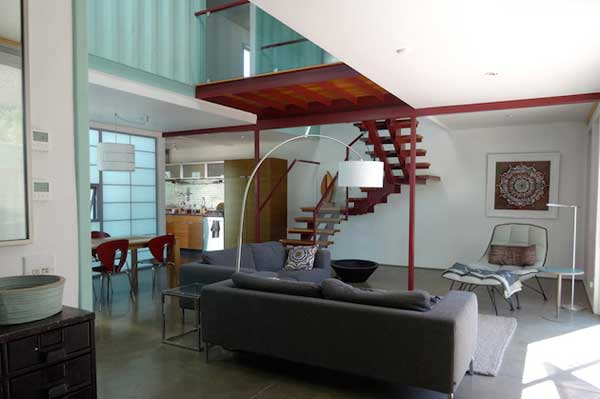 Six Unit Shipping Container Home Interior