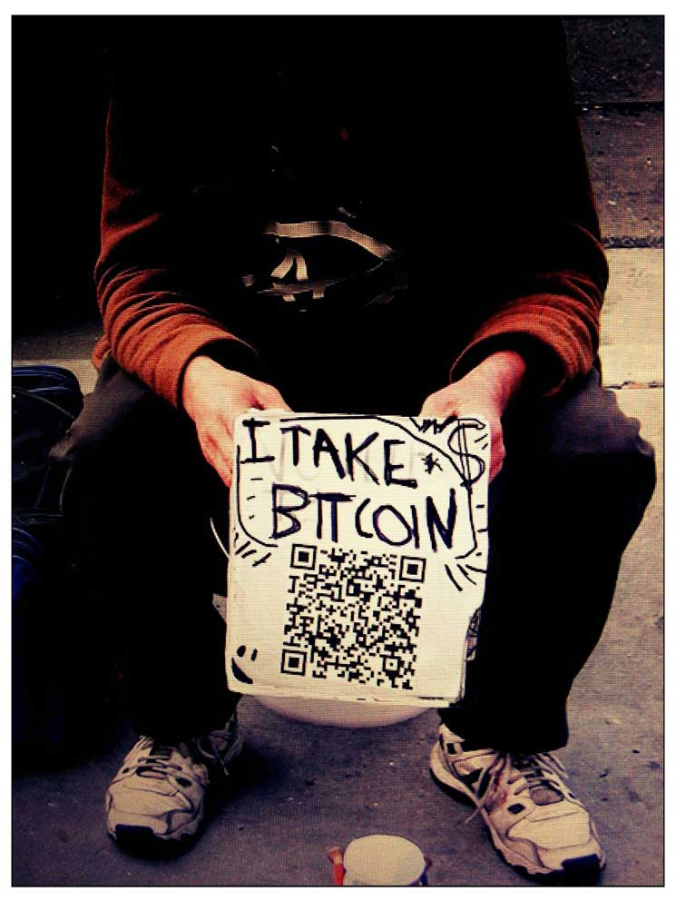 Bitcoin adopted by homeless geeks