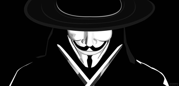V for Vendetta, movie about bringing down an injust system