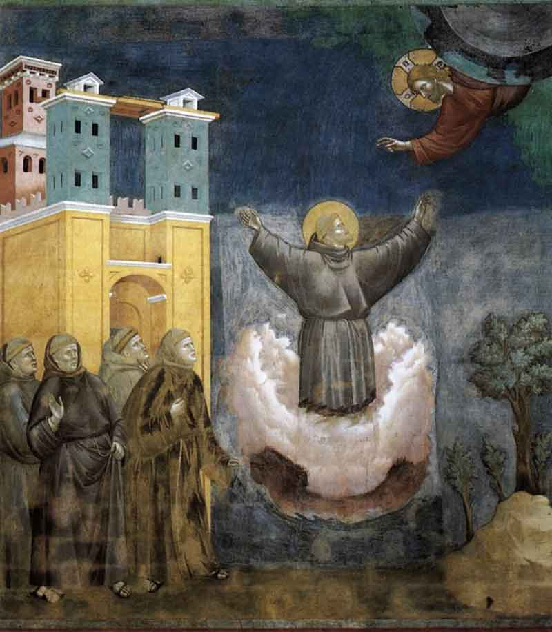painting of the ecstacy of St. Francis