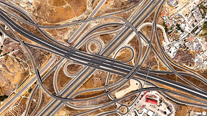 Spaghetti-Junction-(A-3-and-M-50),-Madrid,-Spain
