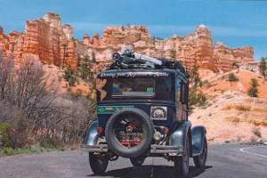 Zapp family of 6 travel the world in classic car