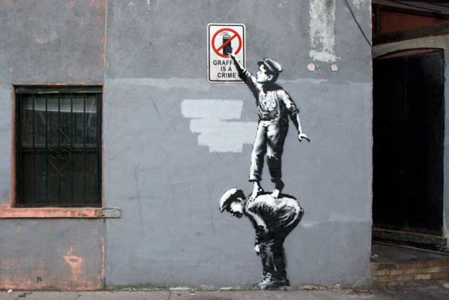 banksy-following-the-rules