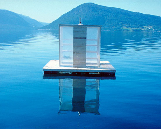 or build a floating sauna