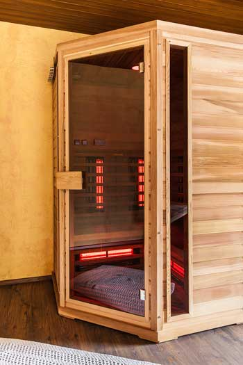 a home sauna doesn't have to be big