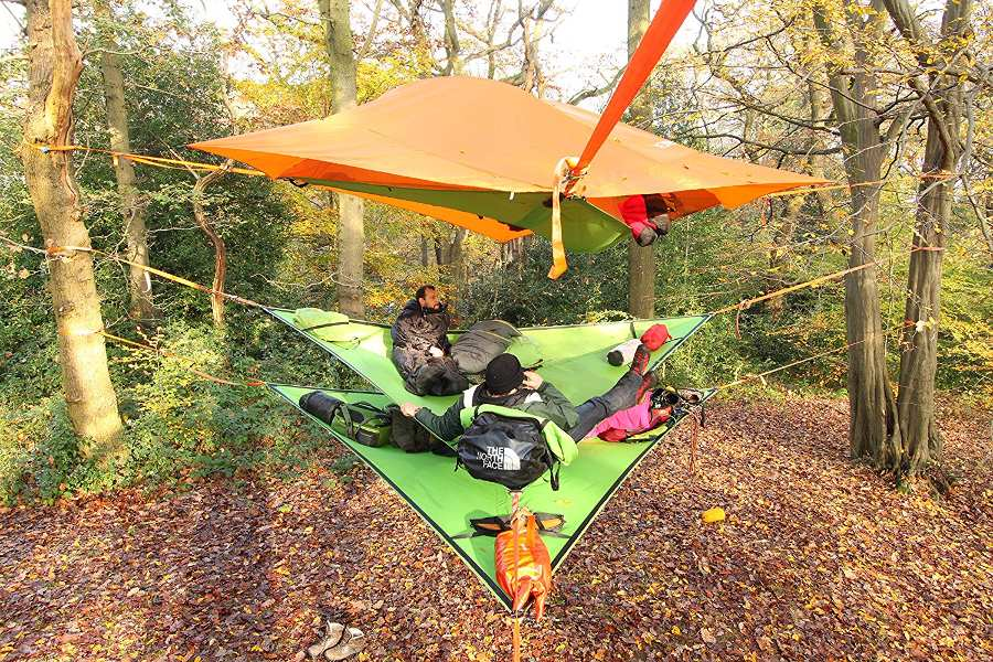 multi layered multi person hammock